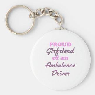 Proud Girlfriend of an Ambulance Driver Basic Round Button Key Ring