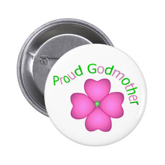 Proud Godmother 6 Cm Round Badge