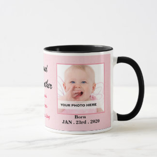 Proud Godmother Pink and Black Baby Photo