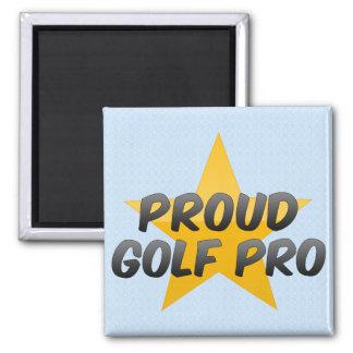 Proud Golf Pro Square Magnet