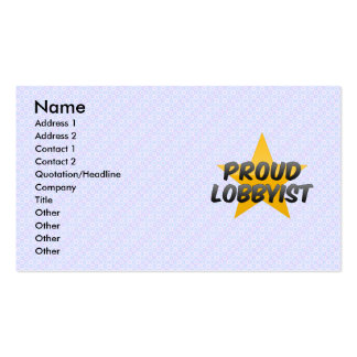 Proud Government Worker Business Card