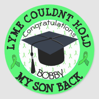 Proud Graduation Stickers for Lyme Patient