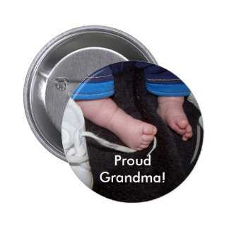 Proud Grandma! 6 Cm Round Badge