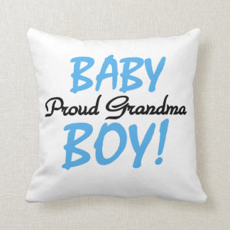 Proud Grandma Baby Boy Gifts Throw Pillow