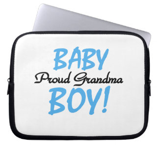 Proud Grandma Baby Boy Gifts Laptop Computer Sleeve