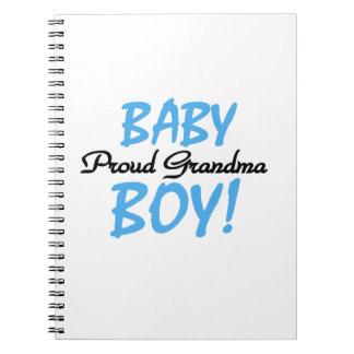 Proud Grandma Baby Boy Gifts Notebooks