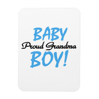 Proud Grandma Baby Boy Gifts Flexible Magnet