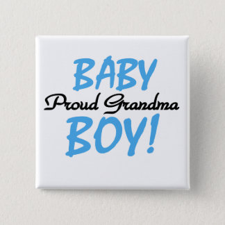 Proud Grandma Baby Boy T shirts and Gifts 15 Cm Square Badge