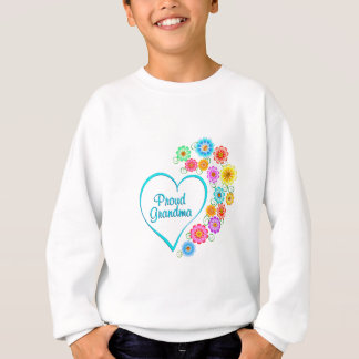 Proud Grandma Heart Sweatshirt