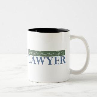 Proud Grandma Of A Lawyer (Green) Two-Tone Coffee Mug