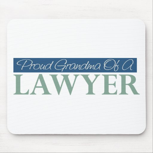 Proud Grandma Of A Lawyer Mousepads
