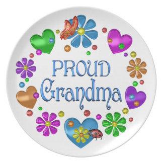 Proud Grandma Plate