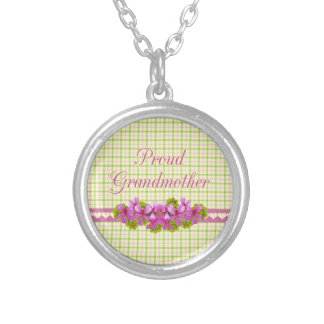 Proud Grandmother Love Round Pendant Necklace