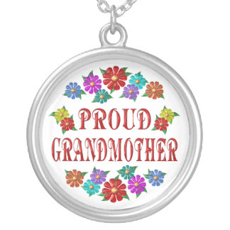 PROUD GRANDMOTHER ROUND PENDANT NECKLACE