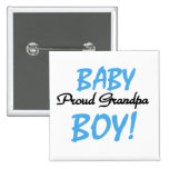 Proud Grandpa Baby Boy Tshirts and Gifts 15 Cm Square Badge
