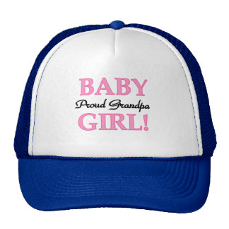 Proud Grandpa Baby Girl T-shirts and Gifts Mesh Hats