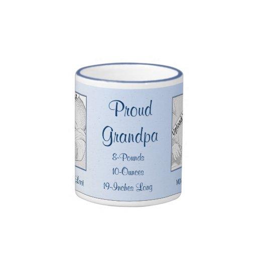Proud Grandpa New Baby Personalized Mug