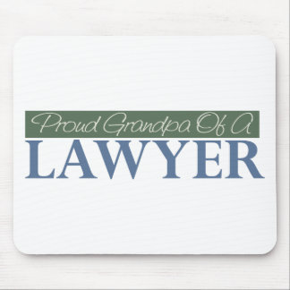 Proud Grandpa Of A Lawyer (Green) Mouse Pad
