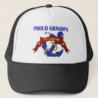 Proud Grandpa of a US Sailor Trucker Hat