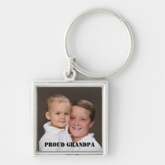 Proud Grandpa Photo Keychain