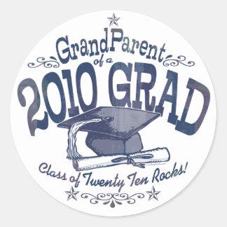 Proud GrandParent of 2010 Graduate Round Stickers