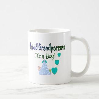 "Proud Grandparents ""It's a Boy"" Coffee Mugs"