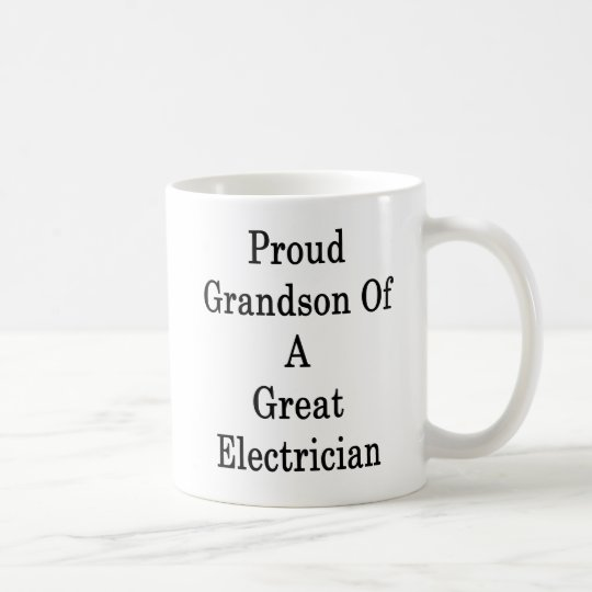 Proud Grandson Of A Great Electrician Coffee Mug