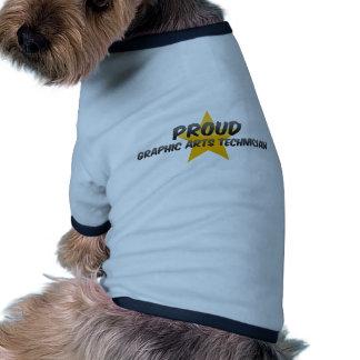 Proud Graphic Arts Technician Doggie Tee Shirt