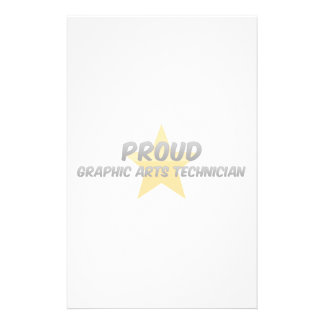 Proud Graphic Arts Technician Stationery Paper