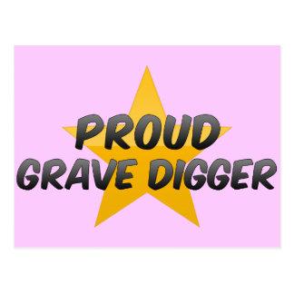 Proud Grave Digger Post Card