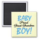 Proud Great Grandma Baby Boy Tshirts and Gifts Magnets
