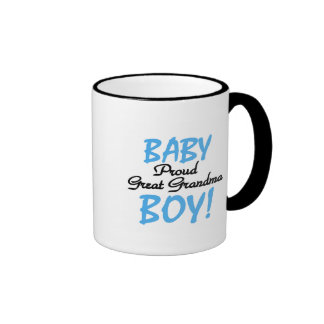 Proud Great Grandma Baby Boy Tshirts and Gifts Mugs
