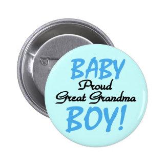 Proud Great Grandma Baby Boy Tshirts and Gifts Pin