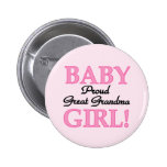 Proud Great Grandma Baby Girl Tshirts and Gifts 6 Cm Round Badge
