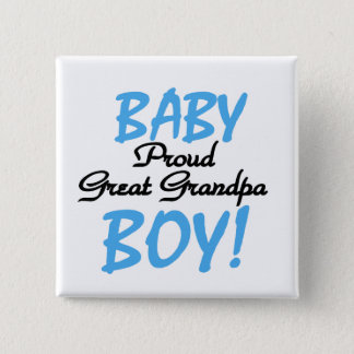 Proud Great Grandpa of Boy Tshirts and Gifts 15 Cm Square Badge
