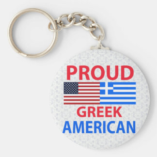 Proud Greek American Key Ring