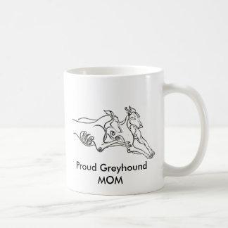 Proud Greyhound MOM Coffee Mug