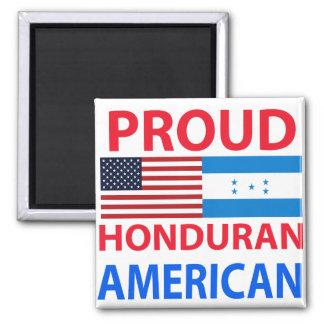 Proud Honduran American Square Magnet