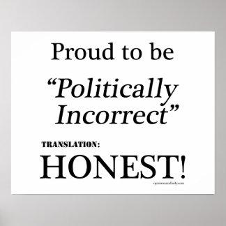 Proud & Honest Posters