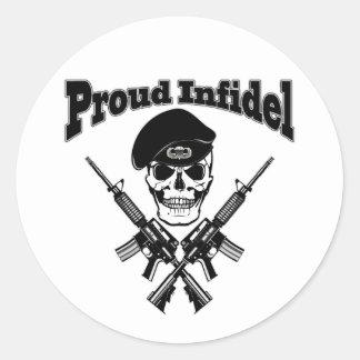 Proud Infidel (Skull) Stickers