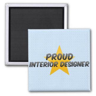 Proud Interior Designer Refrigerator Magnets