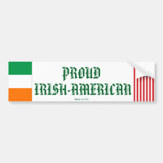 Proud Irish-American Bumper Sticker