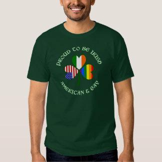 Proud Irish American & Gay Lite Green Tee Shirt