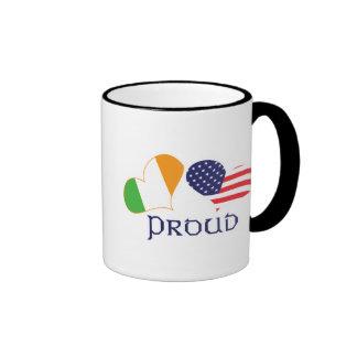 Proud Irish American Coffee Mugs