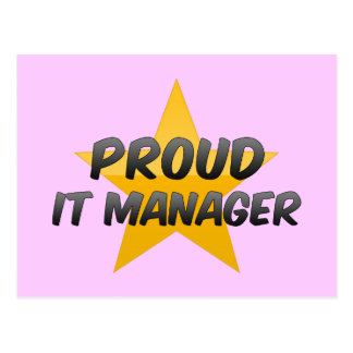 Proud It Manager Postcards