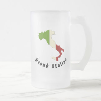 Proud Italian Frosted Beer Mug