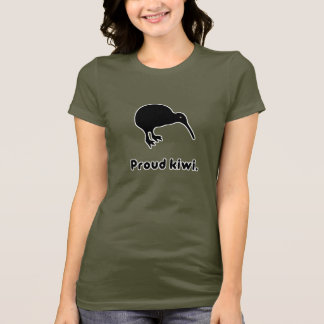 Proud Kiwi New Zealand Pride Womens T-Shirt
