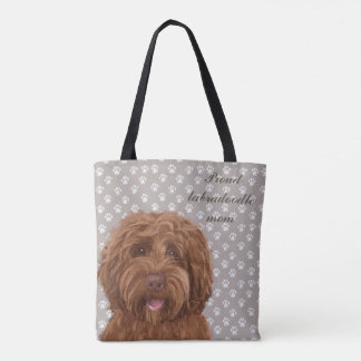 Proud Labradoodle mom <3 Tote Bag