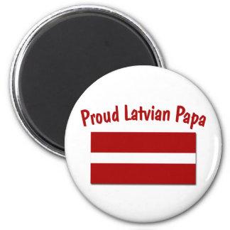 Proud Latvian Papa 6 Cm Round Magnet