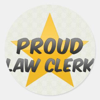 Proud Law Clerk Stickers